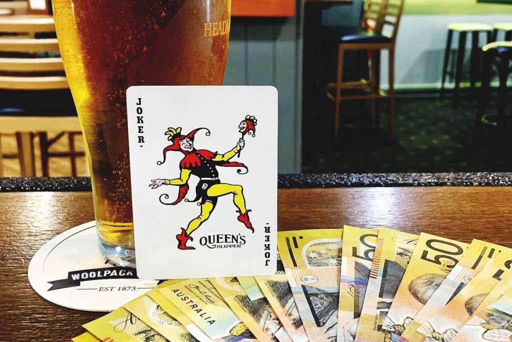joker draw win cash money woolpack hotel mudgee beer